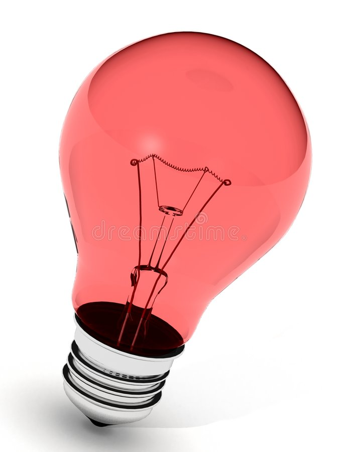 Perfect red light bulb royalty free stock photography