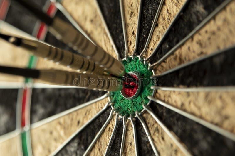 Perfect Score on a dartboard stock photography