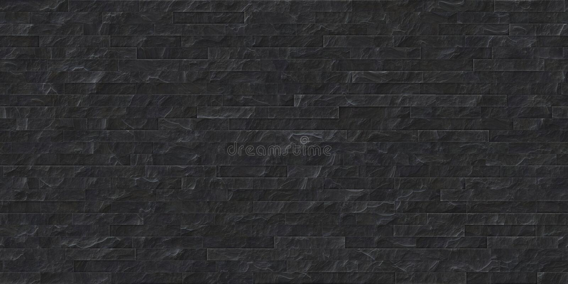 Perfect seamless black slate stone masonry texture royalty free illustration