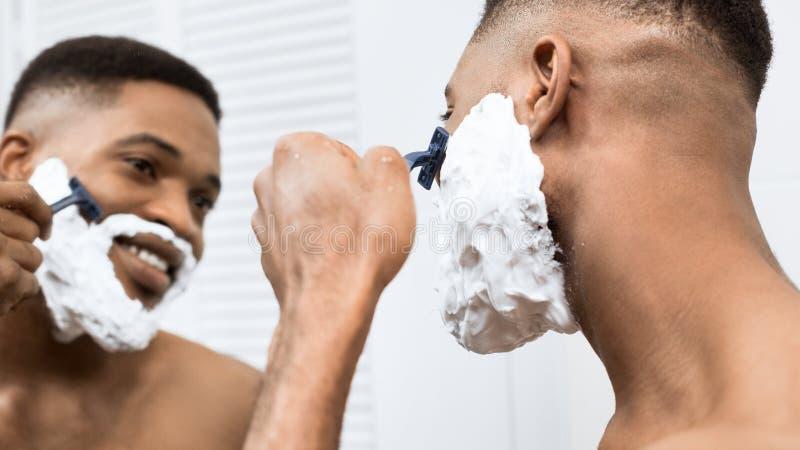 Perfect shaving concept royalty free stock photos