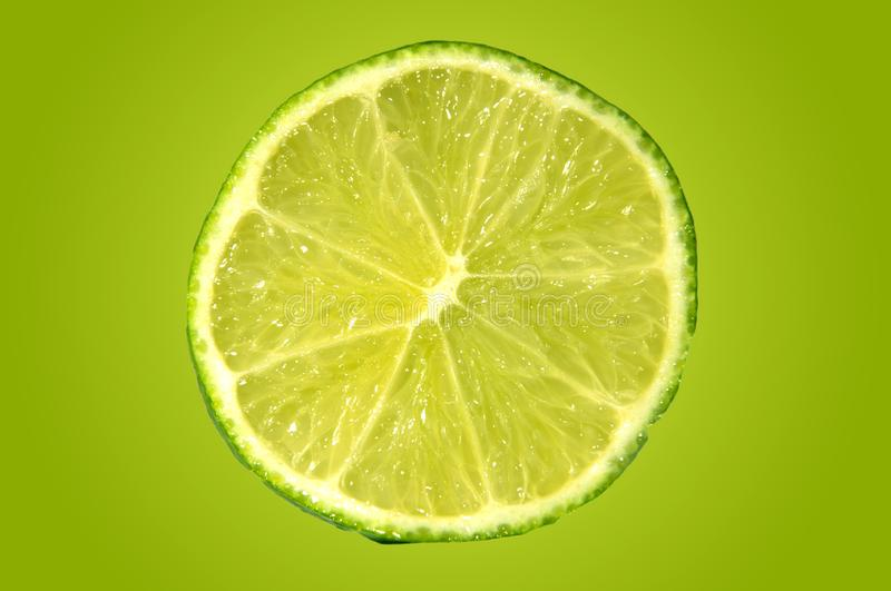 The Perfect Slice Limes royalty free stock image
