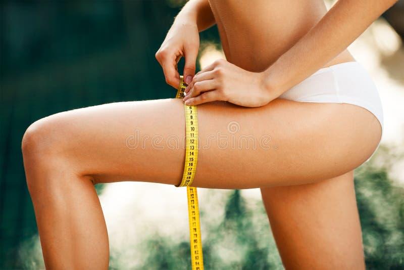 Perfect Slim Body. Outdoor Stock Photo