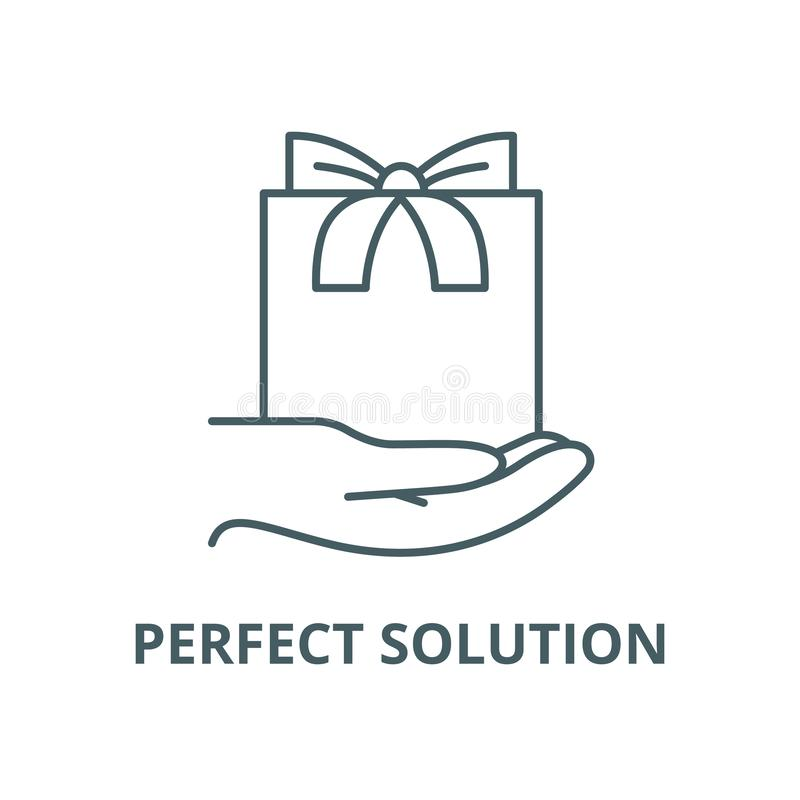 Perfect solution vector line icon, linear concept, outline sign, symbol royalty free illustration