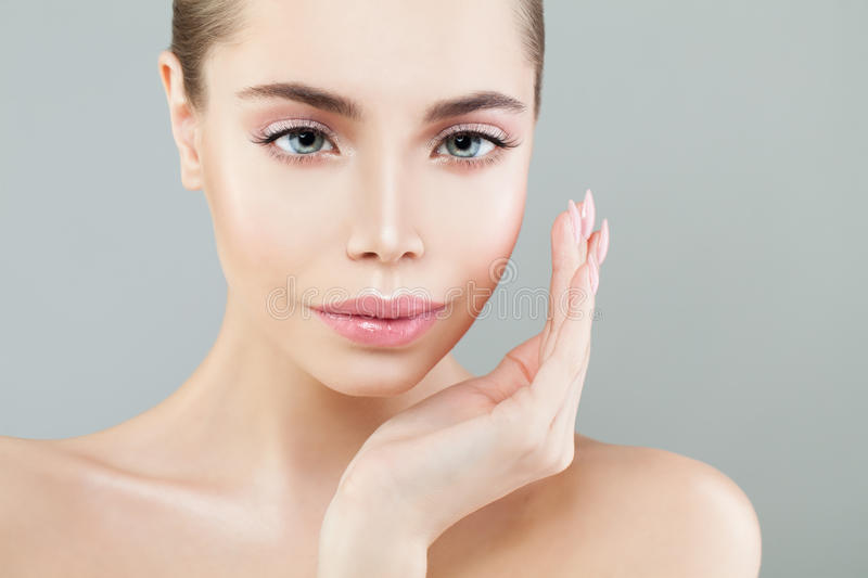 Perfect Spa Girl. Young Woman with Healthy Skin royalty free stock images