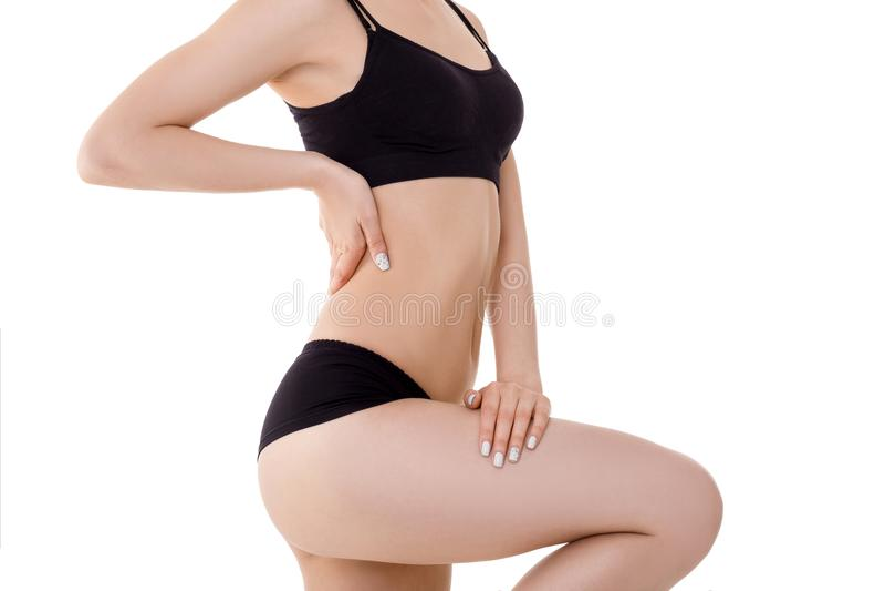 Perfect sporta ciało kobieta zdjęcia stock