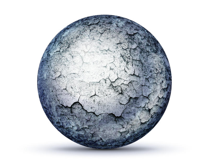 Perfect stone sphere on white royalty free illustration