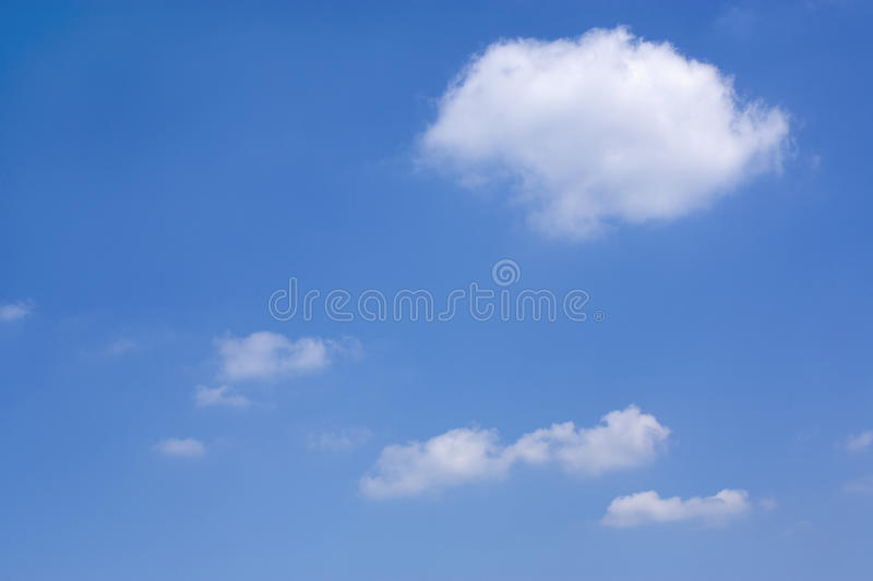 Perfect summer sky. Beautiful summer cloudscape with fluffy clouds in blue sky royalty free stock images