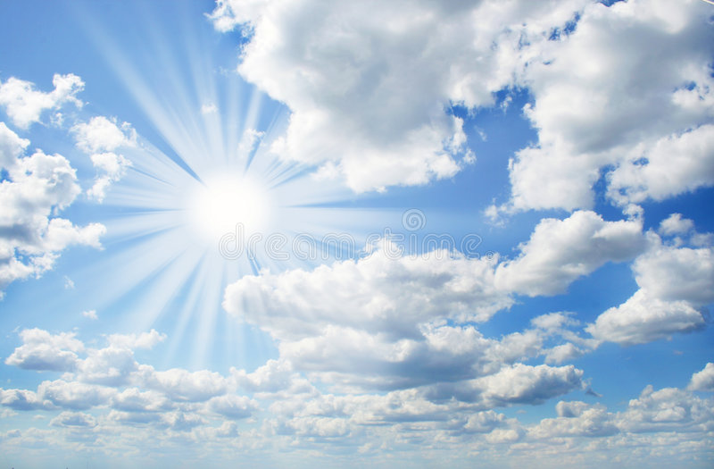 Perfect sunny day royalty free stock images