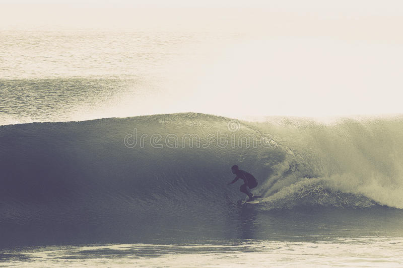 The Perfect Surfing Wave royalty free stock images