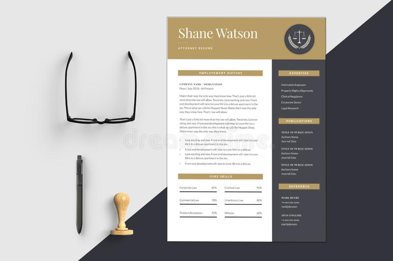 The Resume Template. The perfect template for the resume where the interviewer get attracted more stock illustration
