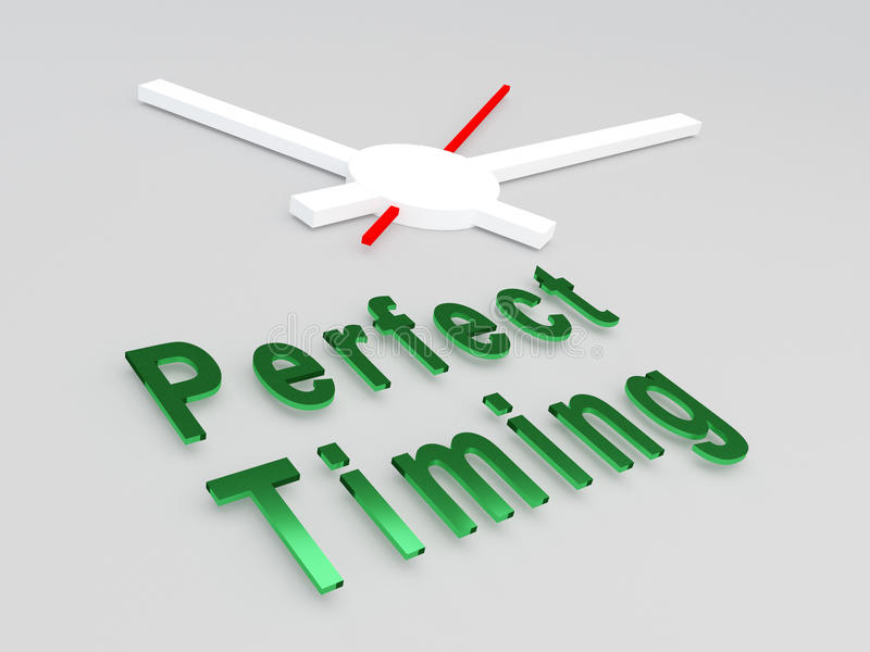 Perfect Timing concept stock illustration
