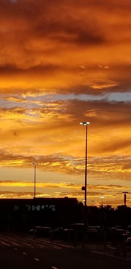 Perfect timing sunset. Beautiful, outdoors royalty free stock photos