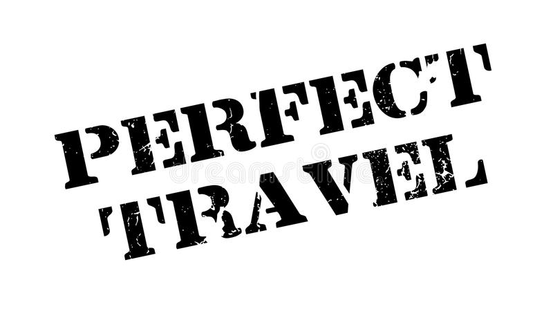 Perfect Travel rubber stamp. Grunge design with dust scratches. Effects can be easily removed for a clean, crisp look. Color is easily changed stock illustration