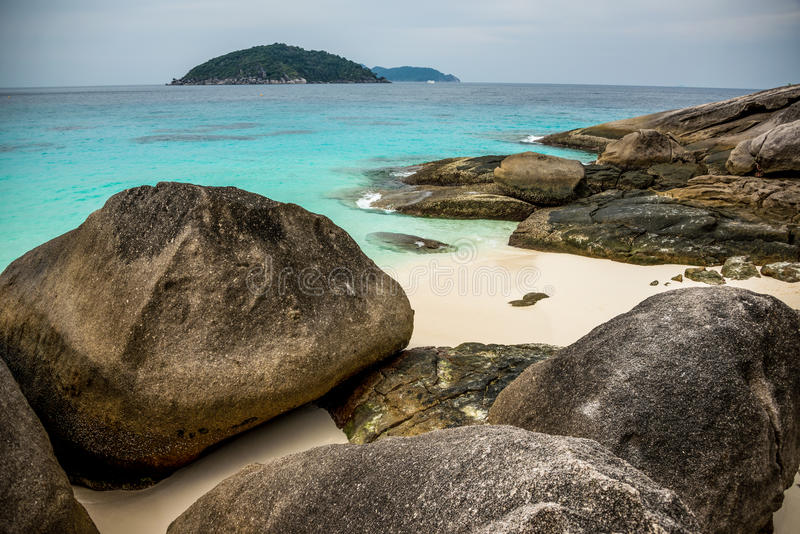 Download Perfect Tropical Island Beach And Rocks With Turqoise Sea At Sim Stock Photos - Image: 33885133