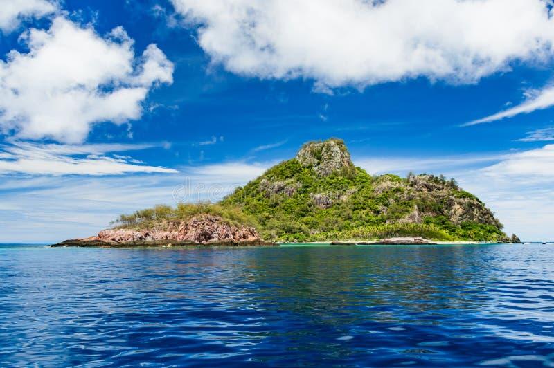 Perfect tropical Island In Fiji stock photo