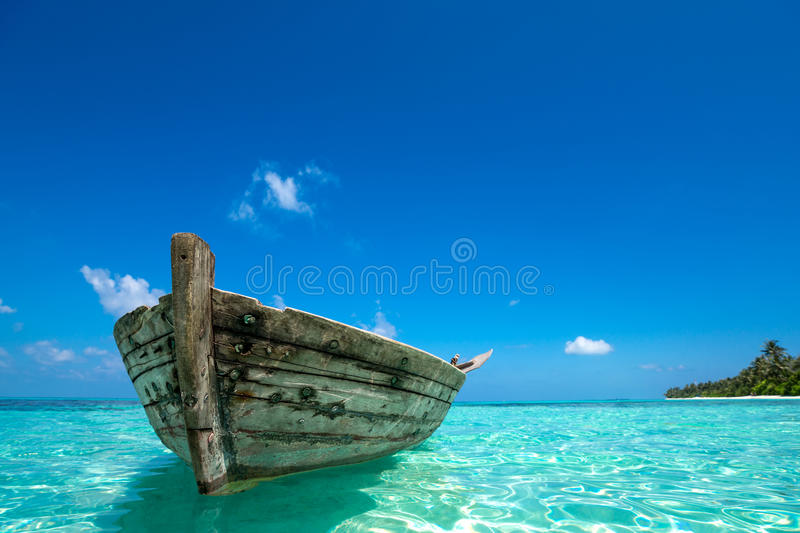 Download Perfect Tropical Island Paradise Beach And Old Boat Stock Image -  Image: 49518347