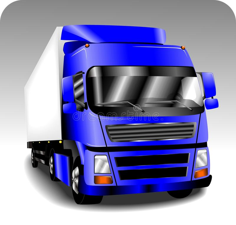 Perfect truck. Perfect blue truck isolated stock illustration