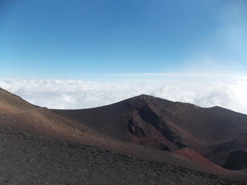 Perfect view, Etna stock photography