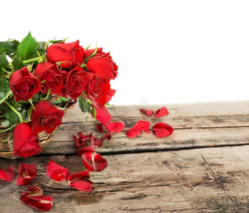 Perfect walentynek czerwone róże obraz royalty free