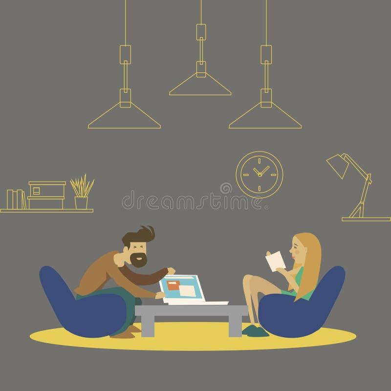 Vector illustration. job interview illustration stock illustration