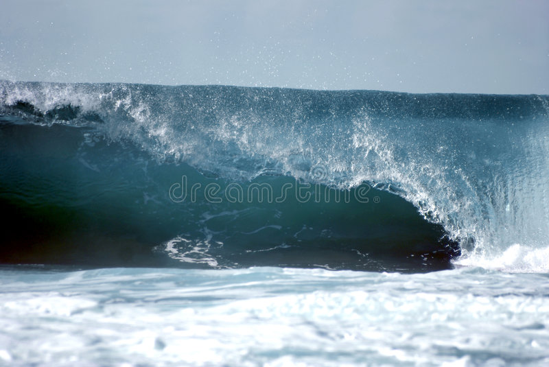 The perfect wave stock photography