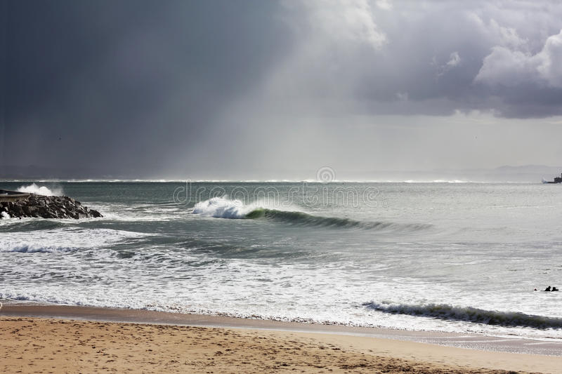 Perfect waves forsurfing royalty free stock images