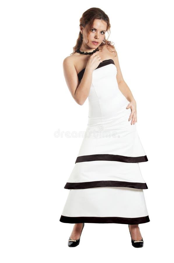Perfect woman in an evening dress. Beautiful woman in an evening dress royalty free stock photo