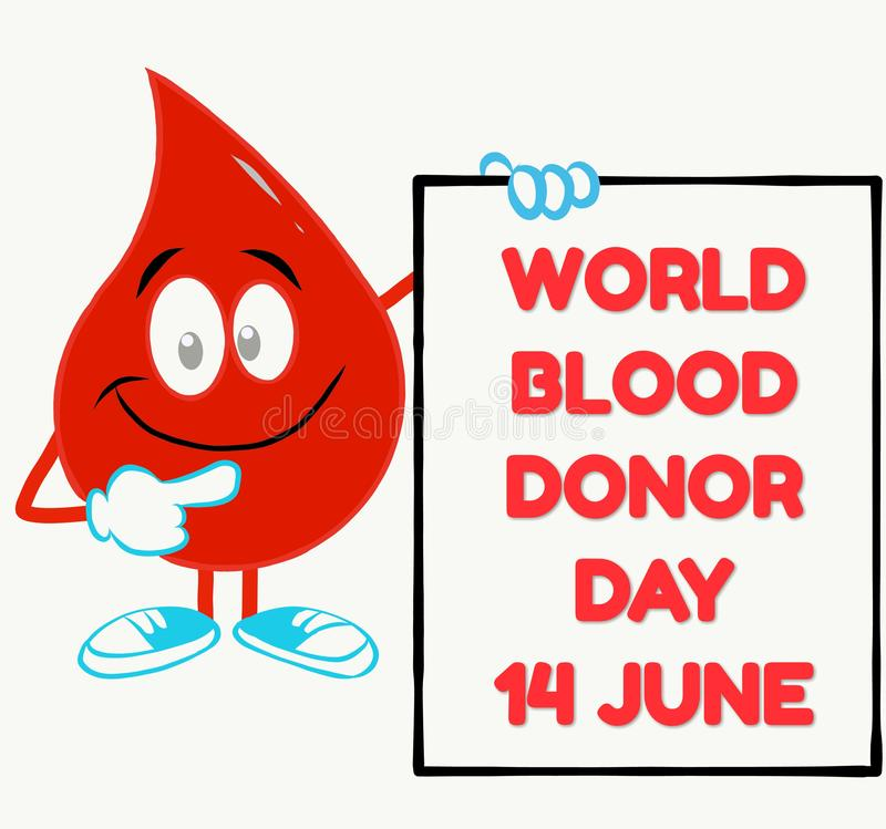 World blood donor day concept with a blood drop vector illustration