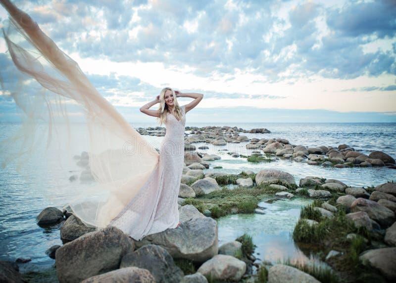 Perfect Wzorcowa kobieta w tiul sukni zdjęcia stock
