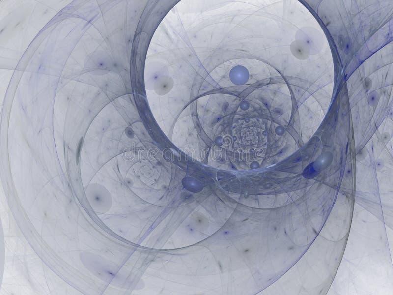 Perfecte abstracte digitale blauwe achtergrond Vortextunnel, 3d illustratie royalty-vrije illustratie