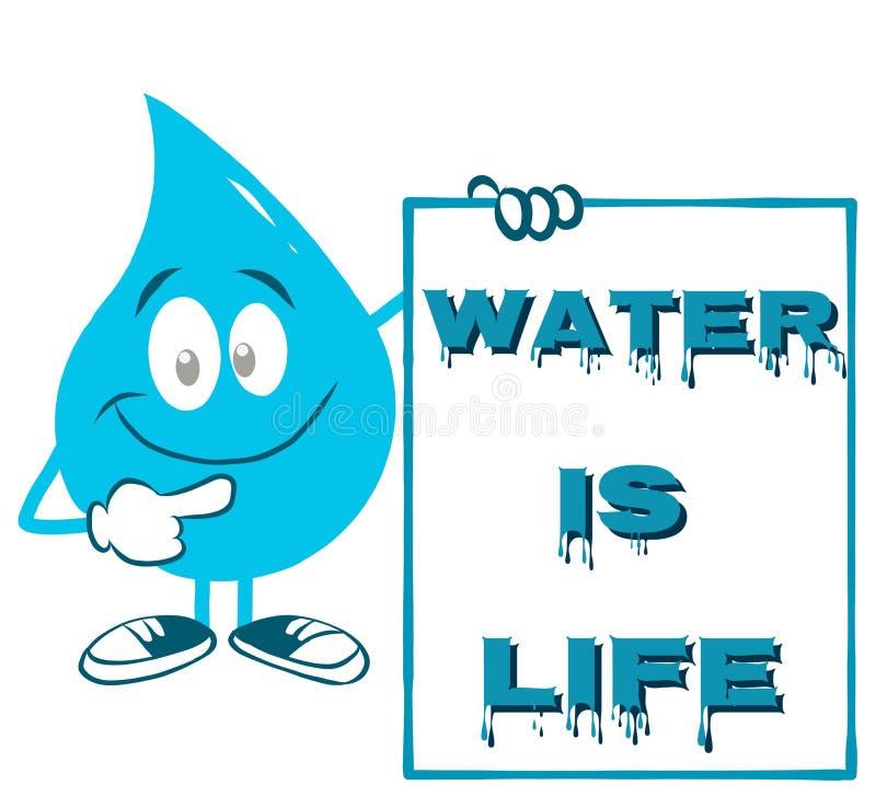 Perfecte banner of affiche voor de Dag van het Wereldwater vector illustratie
