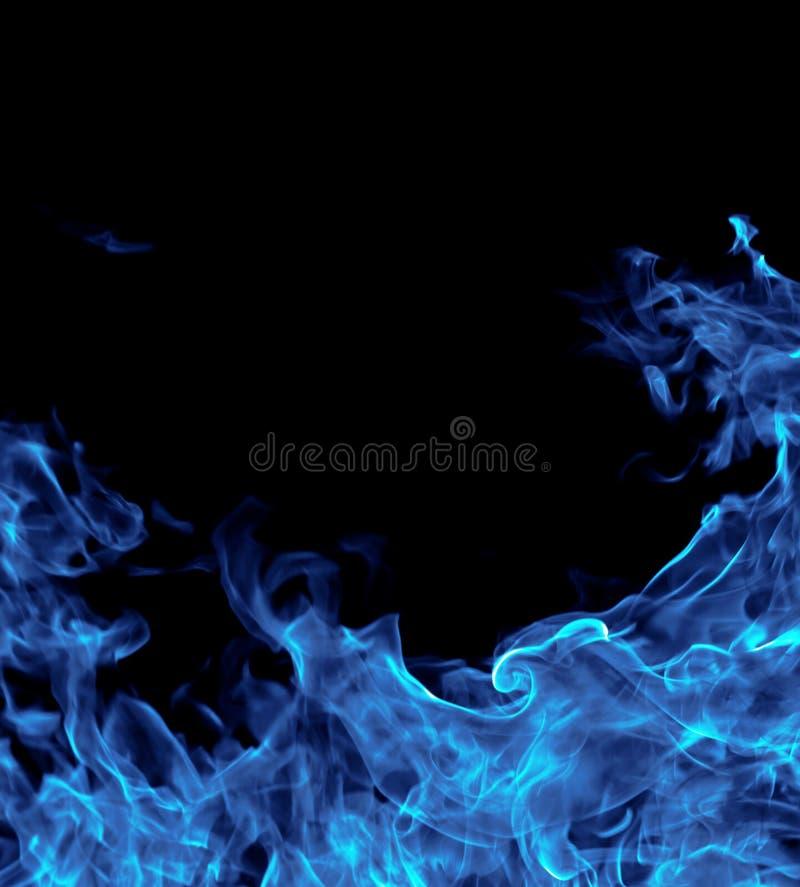 Perfecte blauwe brandachtergrond royalty-vrije stock afbeelding
