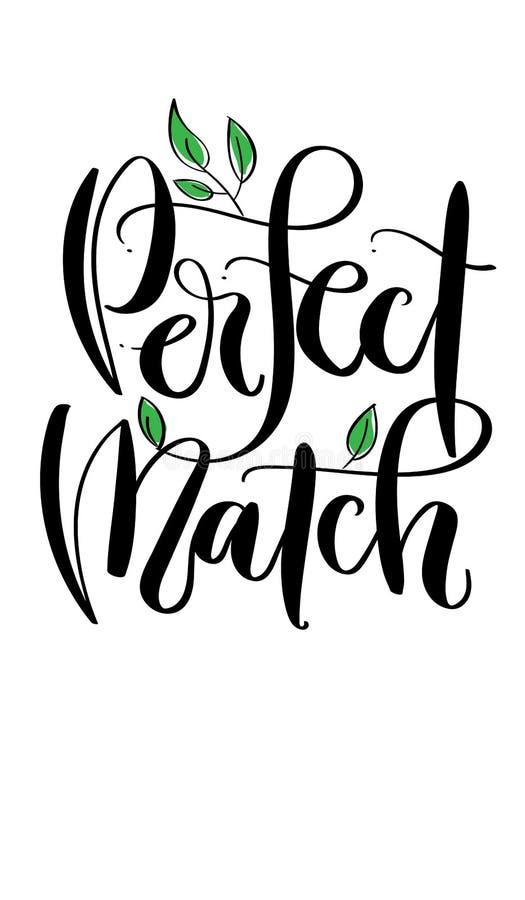 ` Perfecte gelijke ` - moderne kalligrafiestijl, zwart inkthandschrift stock illustratie