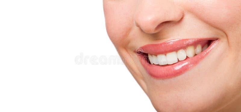 Perfecte glimlach stock afbeelding