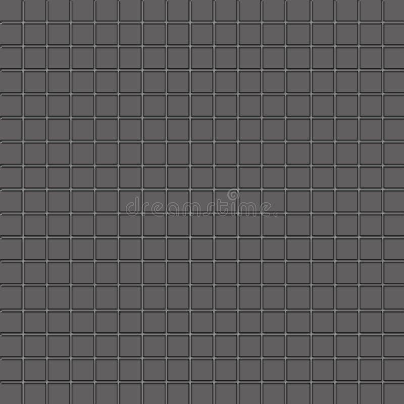 Perfecte grijze vierkanten royalty-vrije illustratie