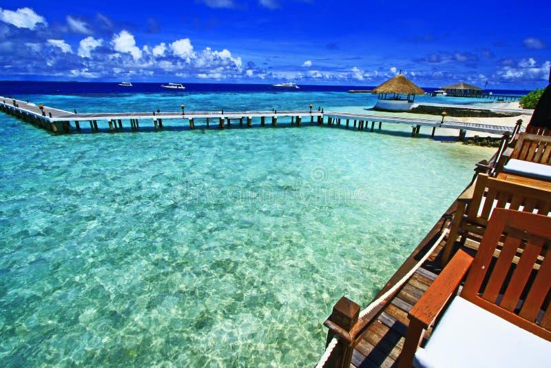 Perfecte mening de Maldiven stock afbeeldingen