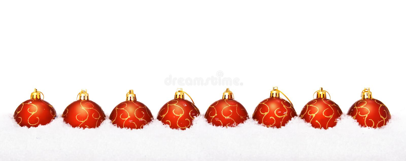 Perfecte rode Kerstmisballen royalty-vrije stock afbeelding