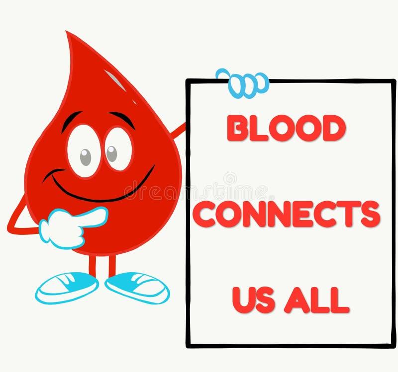 Perfecte slogan voor bloeddonatiekamp royalty-vrije illustratie