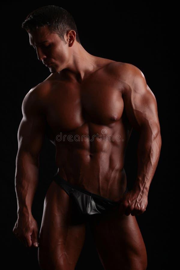 Perfecte spieren royalty-vrije stock foto's