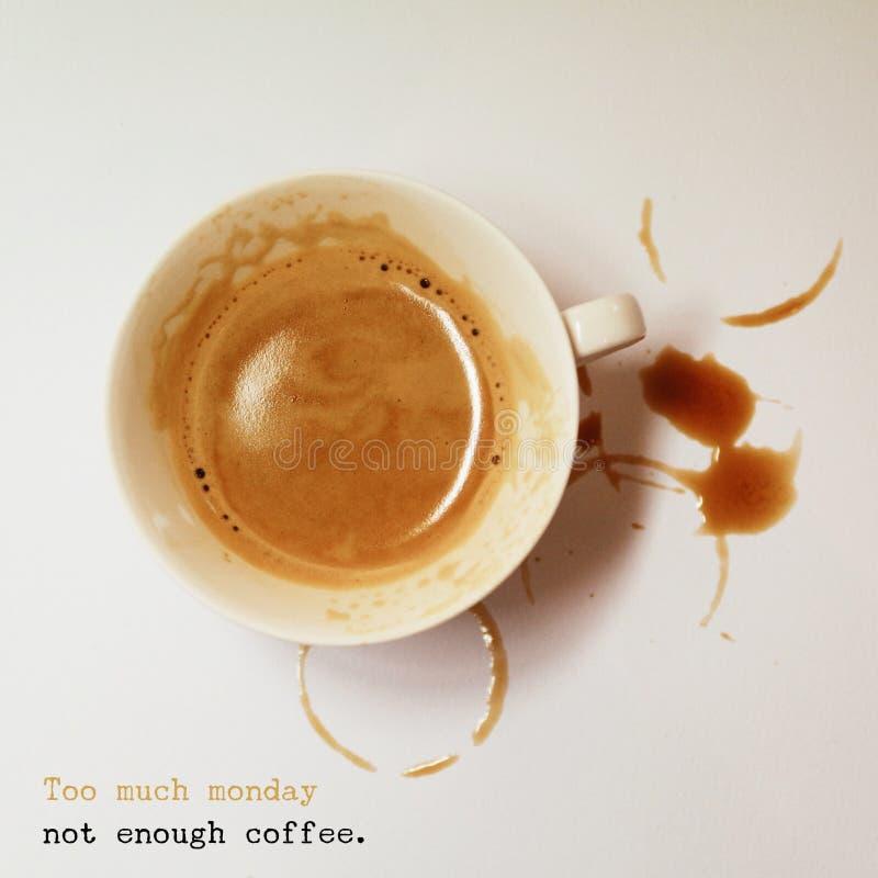 perfecte talian espresso met citaat royalty-vrije stock foto's