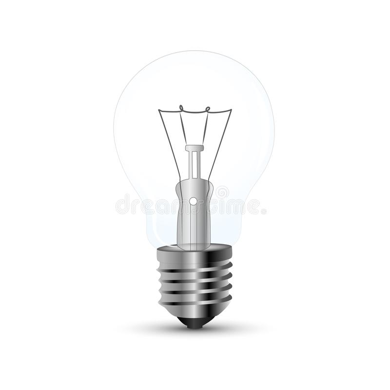 Perfecte transparante Gloeilamp vector illustratie