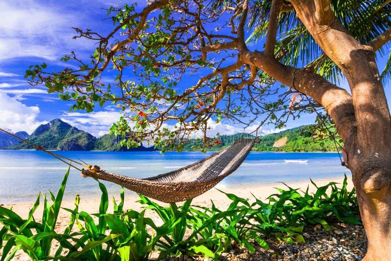 Perfecte tropische vakantie die - in paradijseilanden ontspannen philip stock afbeelding