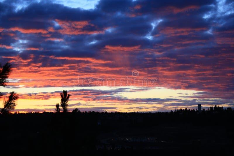 Perfecte zonsondergang royalty-vrije stock afbeeldingen