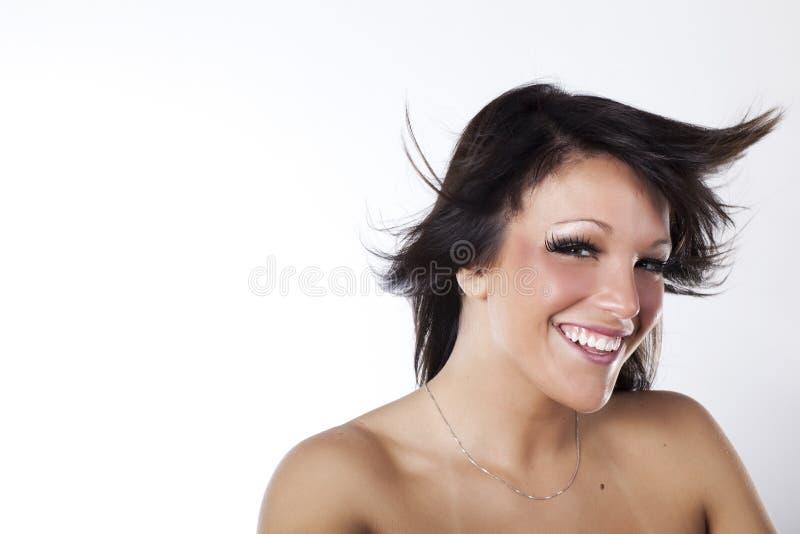 Perfectionnez le sourire photographie stock