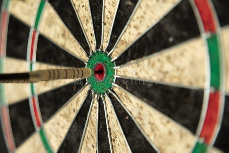 Perfect Score on a dartboard royalty free stock image
