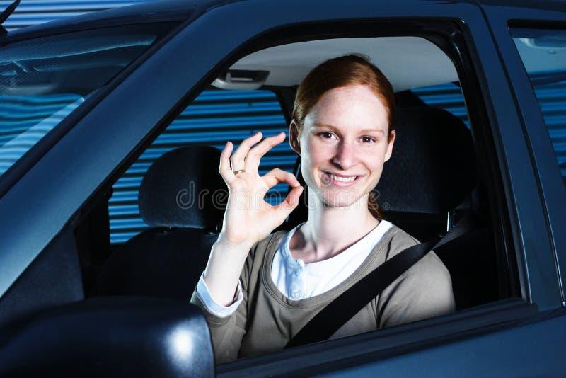perfekt bilkörning arkivfoto
