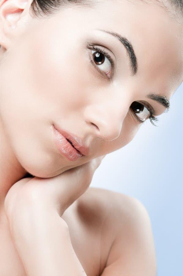 perfekt hud för skönhet royaltyfri fotografi