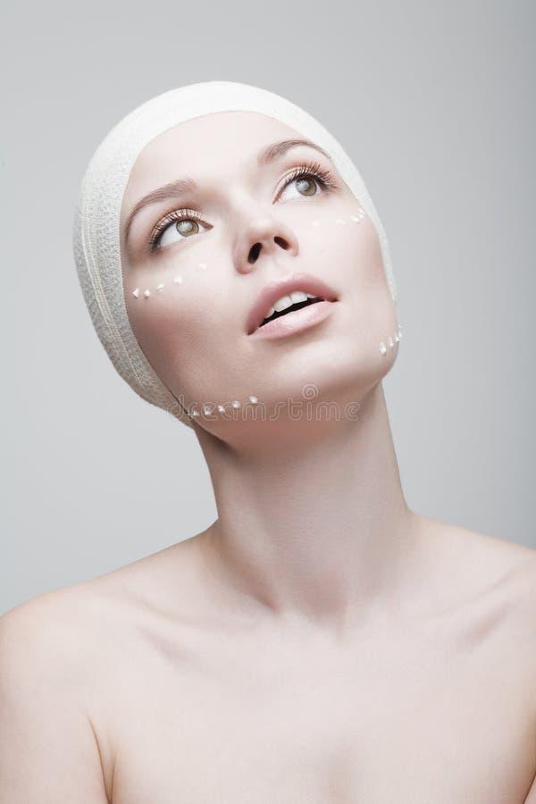 perfekt hud Kvinna arkivfoton