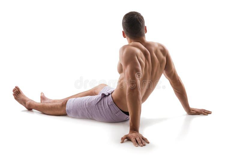 Perfekt manlig kropp-idrottsman nen royaltyfri bild