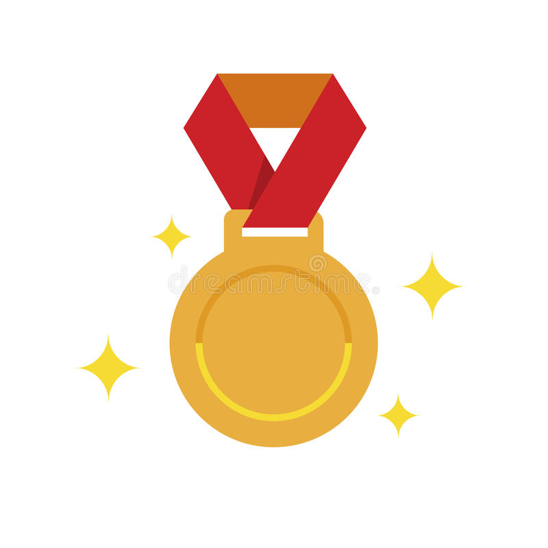 Perfekt medalj för guld- PIXEL, guld- plan medalj, 1st plasemedalj stock illustrationer